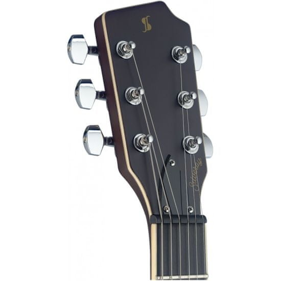 Stagg SVY CSTDLX FRED, elektrická gitara, červená
