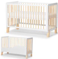 KinderKraft otroška večnamenska posteljica LUNKY, bela