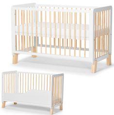 KinderKraft otroška večnamenska posteljica LUNKY, z vzmetnico, bela
