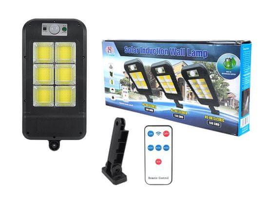 LTC Solarna svetilka 6 x COB (150 x SMD LED) 6000 K s senzorjem gibanja in daljinskim upravljalnikom