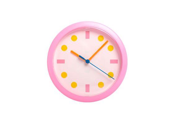 LTC Stenska ura roza okrogle pike LUMIXA
