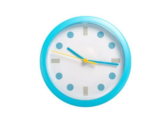 LTC Stenska ura modra okrogle pike LUMIXA