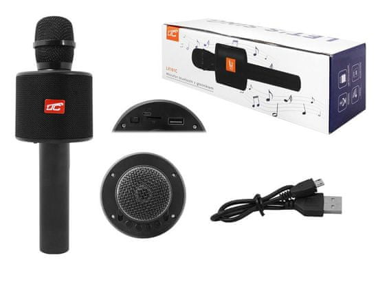 LTC Bluetooth mikrofon LTC z vgrajenim zvočnikom črn