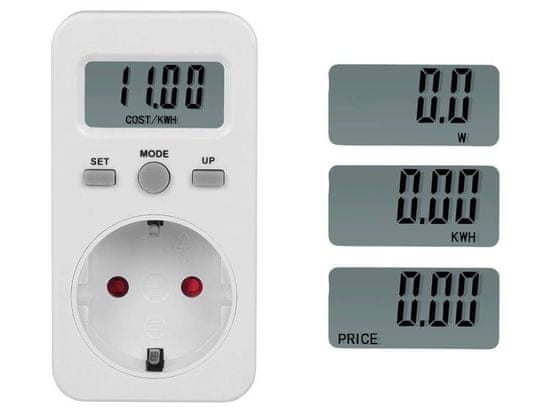 LTC Digitalni LTC merilnik porabe električne energije, zaslon, schuko