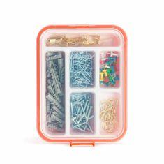 Handy Gospodinjski izbor - zidni vložki, žeblji, kavlji - 266 kosov s plastičnim organizatorjem