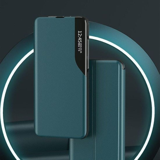 MG Eco Leather View knjižni ovitek za Huawei Y6p / Honor 9A, rdeča