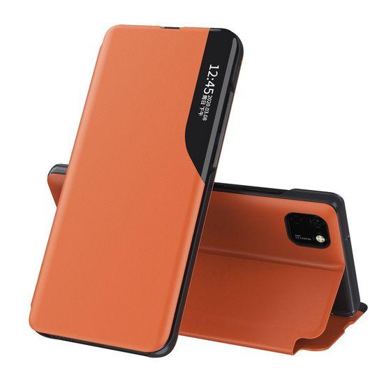 MG Eco Leather View knjižni ovitek za Xiaomi Mi 10 Pro / Xiaomi Mi 10, oranžna