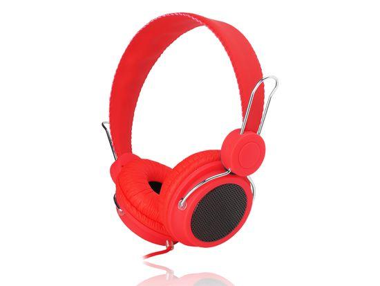 LTC Slušalke naglavne rdeče