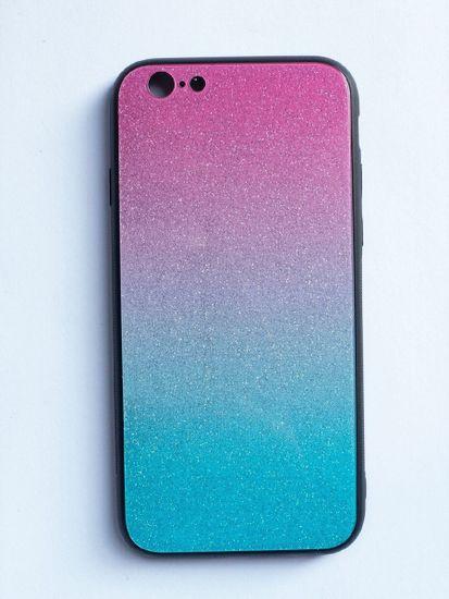 Oem Glass case SHINNING pre iPhone X/ XS (5,8) - modro/ružový