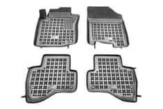 REZAW-PLAST Gumové koberce, černé, sada 4 ks (2x přední, 2x zadní), Citroen C1, Peugeot 107, Toyota Aygo (Hatchback) od 06.2005