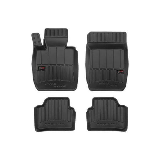 FROGUM Gumové koberce, černé, sada 4 ks (2x přední, 2x zadní), BMW 3 (E90), 3 (E91) (Kombi/Sedan) od 12.2004-12.2012