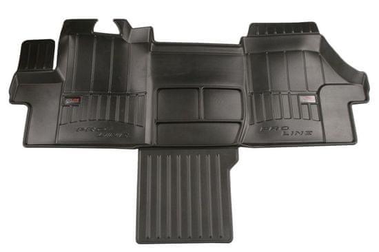 FROGUM Gumové koberce, černé, sada 4 ks (2x přední, 2x zadní), Citroen Jumper, Fiat Ducato, Peugeot Boxer od 04.2006