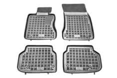 REZAW-PLAST Gumové koberce, černé, sada 4 ks (2x přední, 2x zadní), BMW 7 (F01, F02, F03, F04) (Sedan) 02.2008-12.2015