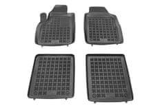 REZAW-PLAST Gumové koberce, černé, sada 4 ks (2x přední, 2x zadní), Fiat Panda (Hatchback) od 09.2003