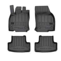 FROGUM Gumové koberce, černé, sada 4 ks (2x přední, 2x zadní), Audi Q2 (SUV) od 06.2016