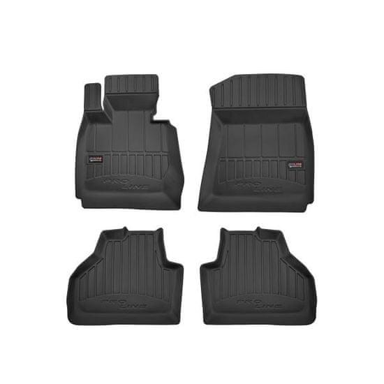 FROGUM Gumové koberce, černé, sada 4 ks (2x přední, 2x zadní), BMW X3 (F25) (SUV) od 09.2010-08.2017