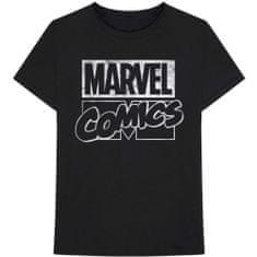 Tričko Marvel Comics - Logo unisex černé
