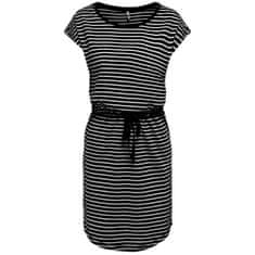 ONLY Ženska obleka ONLMAY 15153021 Black THIN STRIPE CLOUD DANCE R (Velikost XS)