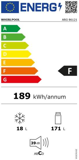Whirlpool vestavná lednička ARG 86121