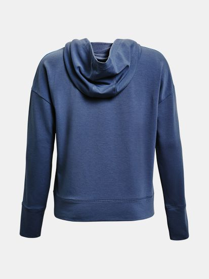 Under Armour Pulover UA Rival Terry Taped Hoodie-BLU