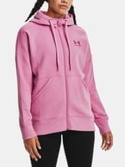 Under Armour Mikina Rival Fleece FZ Hoodie-PNK M