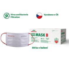 Batist NANO fiber 4-VRSTVÁ rouška - 50 ks, GUMIČKY