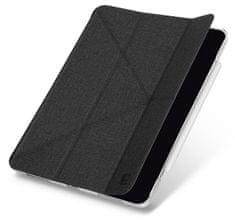 """UNIQ YORKER KANVAS ochranné pouzdro pro iPad Air 10,9"""" (2020) antibakteriální, černé-průhledné (UNIQ-NPDA10.9YKR(2020)-KNVBLK)"""