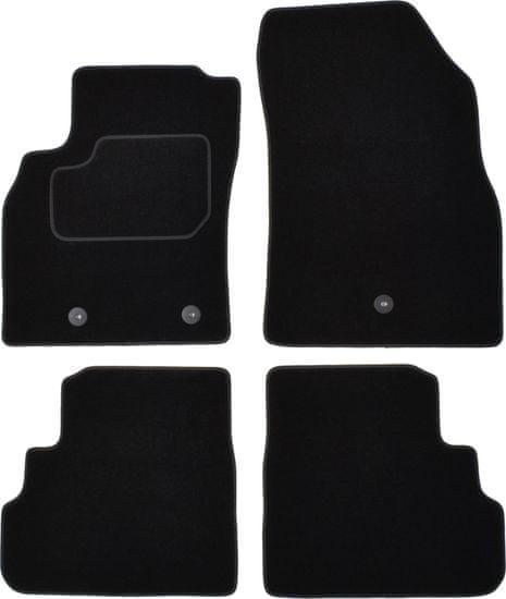 MAMMOOTH Koberce textilní, Opel Karl (Sedan) 01.2015-03.2018, černá, sada 4 ks