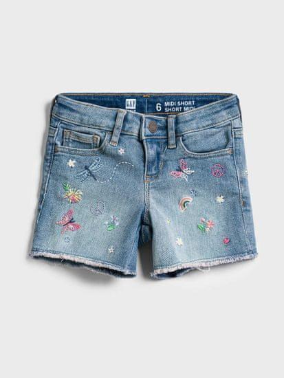 Gap Otroške Jeans Kratke hlače midi - med vntg emb