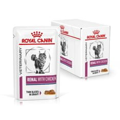 Royal Canin Veterinary Diet Cat Renal Chicken Pouch, 12x85 g