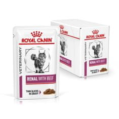 Royal Canin Veterinary Diet Cat Renal Beef Pouch 12 x 85 g