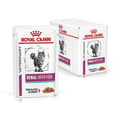 Royal Canin Veterinary Diet Cat Renal Fish Pouch, 12x85 g