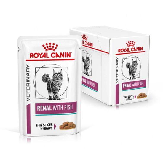 Royal Canin karma weterynaryjna dla kotów Veterinary Diet Cat Renal Fish Pouch 12x85 g