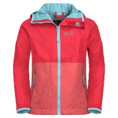 Jack Wolfskin dekliška zložljiva jakna Rainy Days Kids 1604815, 140, rdeč