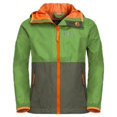 Jack Wolfskin otroška zložljiva jakna Rainy Days Kids 1604815_1, 140, zelen