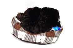 Petproducts Hnědobéžový pelíšek pro psy - 45x40 cm