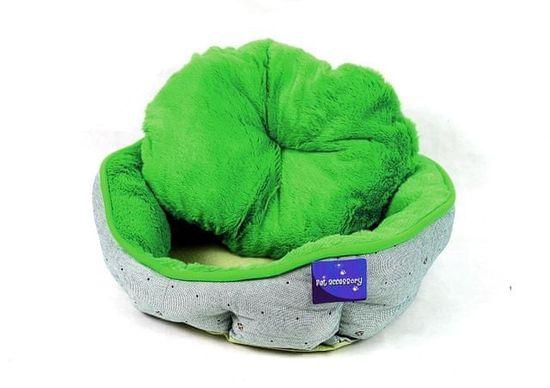 Petproducts Zelenobéžový pelíšek pro psy - 45x40 cm
