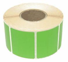 megamiska Nalepke termične barvne 40x40mm 1000 kos zelene