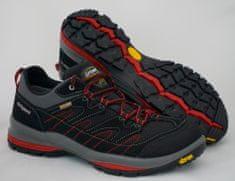 Grisport Grisport 12503 nizki treking čevlji, črno/sivi z rdečimi okrasnimi deli, 43