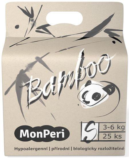 MonPeri Bamboo S, 3-6 kg (25 ks)