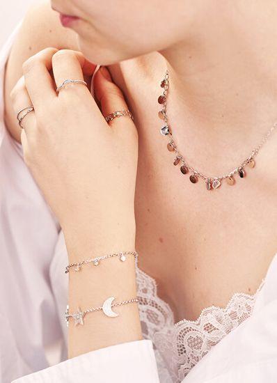 Troli Pozlačena jeklena ogrlica