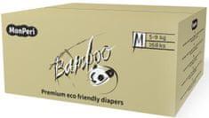 MonPeri pieluchy bambusowe Bamboo Mega Pack M, 5-9 kg (168 szt.)