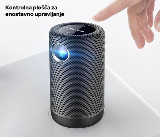 Byintek P30 prenosni mini projektor, 3D LED DLP, 350 ANSI lumnov, Android, Wi-Fi, Bluetooth 5.0, 1080p