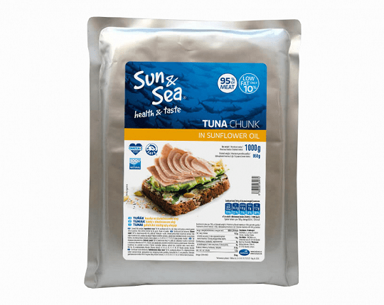 Sun&Sea Tuniak kúsky v slnečnicovom oleji 1000 g , 1 ks