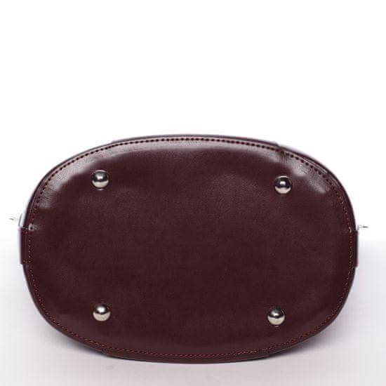 Carine Luxusní dámská kabelka Jessie, vínově červená