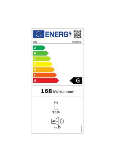 VOX electronics KS 2800 G hladilnik, 250 l, G - Odprta embalaža
