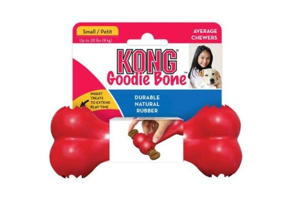 KONG Goodie Bone igrača za pse, M, rdeča