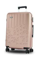 potovalni kovček,100 l, 77 x 53 x 30,5 cm, zlato-roza