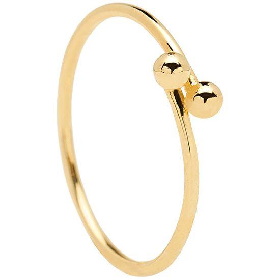 PDPAOLA Pozlacený minimalistický prsten ze stříbra AURA Gold AN01-128 stříbro 925/1000
