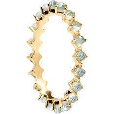 PDPAOLA Něžný pozlacený prsten se zirkony MINT BIRD Gold AN01-140 (Obvod 52 mm) stříbro 925/1000